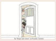 Rosepin steht in der geöffneten Zimmertür, hinter ihr sieht man in ihr Zimmer